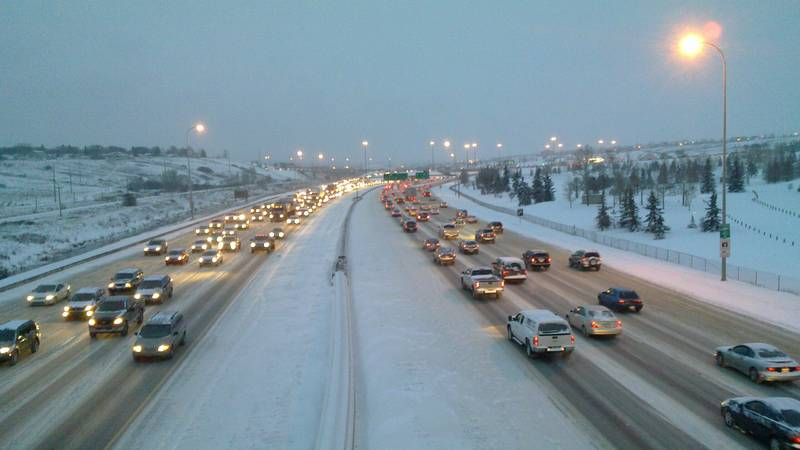 deerfoot in the snow